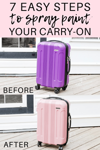 Tips On How To Inexpensively Decorate Your Carry-On | Rust-Oleum Canada Spray Painting Your Suitcase