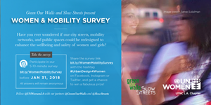 Women Mobility Survey and #UrbanDesign4Women Twitter Chat