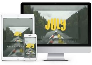 July 2017 Desktop Calendar Wallpaper