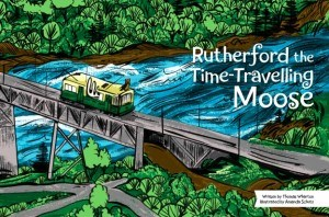 Rutherford the Time-Travelling Moose has arrived on time