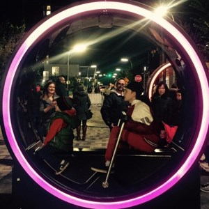 Hand powered #zoetrope and light show at Impulse +Loop in the...