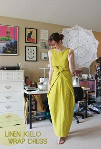 Comfortable Sewing // Linen Kielo Wrap Dress