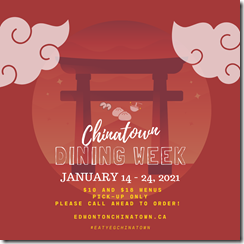Chinatown Dining Week Returns January 14-24, 2021