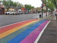 The rainbow crosswalks are back!