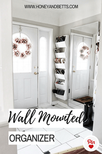 DIY Project | Front Entrance White Wall Mounted Shoe Organizer