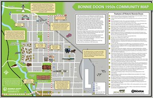 Map of 1950's Bonnie Doon