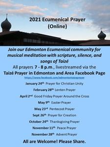 Livestreamed Ecumenical Prayer for 2021