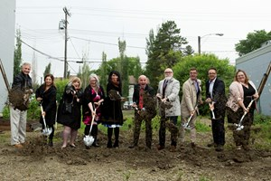 'From the ashes': Local arts community breaks ground on new Roxy Theatre
