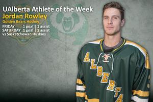 Jordan Rowley is the U of A Athlete of the Week