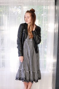 What To Wear With A Fall Gingham Dress