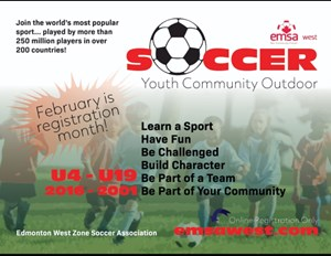 Edmonton Minor Soccer Registration