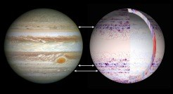 Simulating the jet streams and anticyclones of Jupiter and Saturn