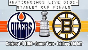 #NationSims2 Live Stream Sim: Stanley Cup Finals – Game 2 – Bruins vs Oilers 7:00pm MT