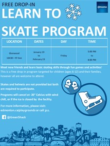 Learn to Skate at the Glenwood Hall