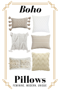 How To Decorate Like Anthropologie On A Budget | 6 Cream Boho Throw Pillows