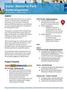 Butler Park Redevelopment Update