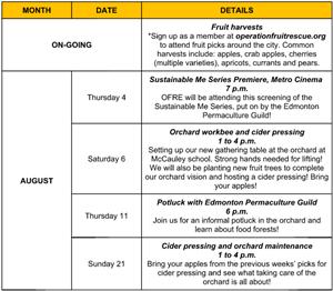OFRE Event Calendar 2016