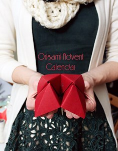 Easy Origami Advent Calendar