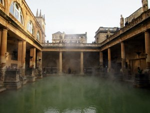 Visiting The Roman Baths in Bath