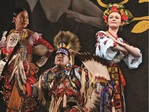 Indigenous and Ukrainian cultures meet in April Shumka show, Ancestors and Elders