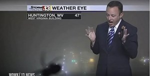 WATCH:  Weatherman Hilariously Loses it When He Sees Spider On Air