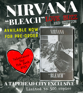 Nirvana's album 'Bleach' to be reissued on red cassette for Valentine's Day