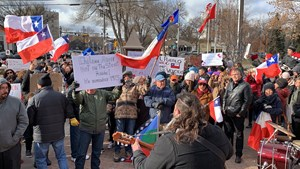 Protest Against the Military Occupation in Chile (Oct. 26, 2019)