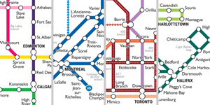 A closer look at the City of Canada transit map