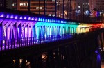 "How well has the ""Light the Bridge"" project worked out on the High Level Bridge?"