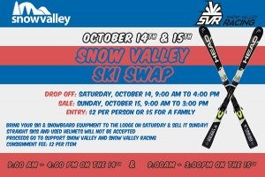 Ski Swap is Back October 14 & 15