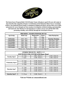 STORM Soccer Tryouts