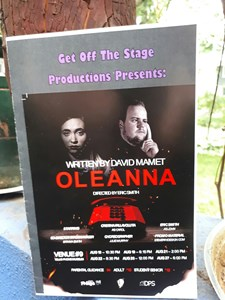 Oleanna, by David Mamet, at Edmonton's Fringe Festival