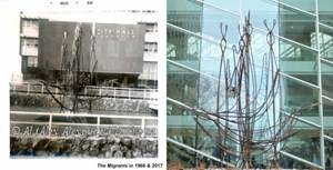 """It all began with a """"spaghetti tree"""". When Edmonton city planners commissioned The Migrants for the..."""