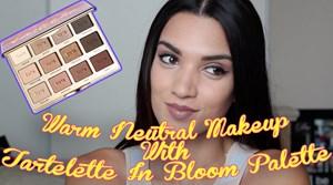 Warm Neutral Eye Makeup Using Tartelette in Bloom Palette