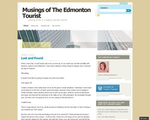 Musings of The Edmonton Tourist