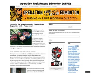 Operation Fruit Rescue Edmonton
