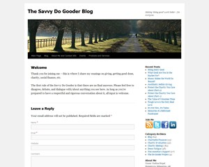 The Savvy Do Gooder Blog