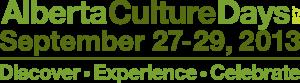 Alberta Culture Days Kickoff