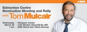 Tom Mulcair in Edmonton