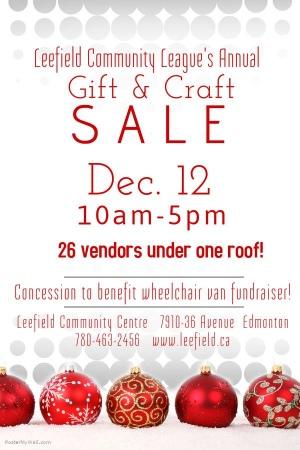 Leefield Community League's Gift & Craft Sale