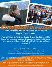 Energize! Breakfast with Premier Alison Redford