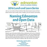 Lunch and Learn: Naming Edmonton and Open Data