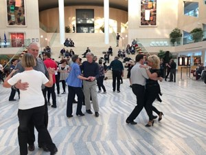 Learning the lindy hop with Edmonton's Swingin' Sundays
