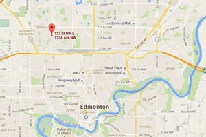 Van jumps northwest Edmonton curb, hits man at bus stop