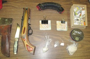 Drug, weapons charges after car flees traffic stop