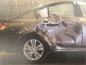 Driver charged in fatal hit-and-run testifies he thought he hit a curb