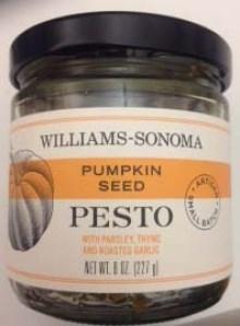 Williams-Sonoma pumpkin seed pesto recalled due to dangerous bacteria
