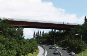 Seventh girder being installed to stabilize 102 Avenue bridge