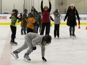 Kids score ice time at new learn-to-skate program launched by city, Oilers community foundation