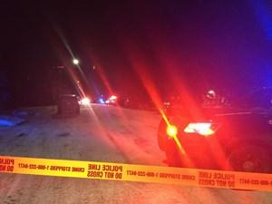 Edmonton police block street, knock on doors